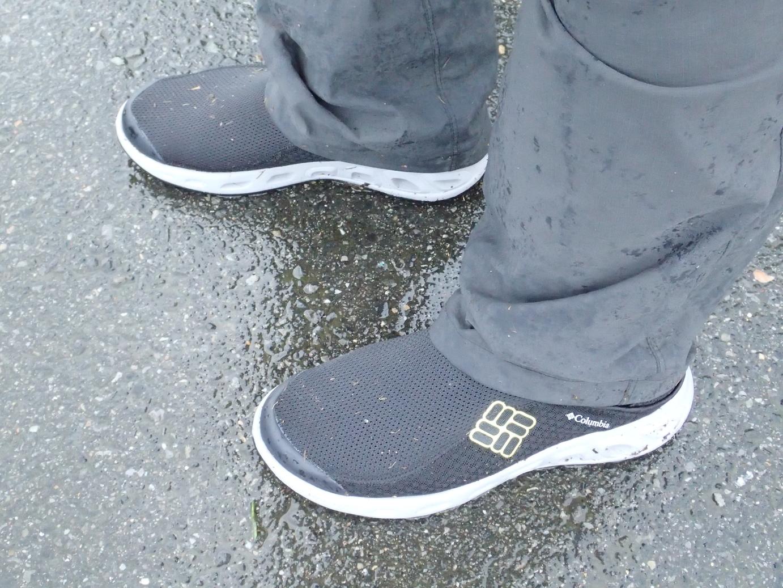 水陸両用の靴なんてあるんですね。